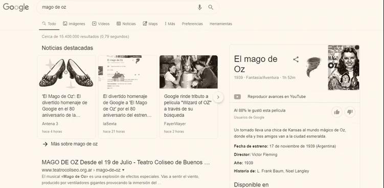 El Mago De Oz Cumple 80 Años Y Google Lo Homenajea Revista Cosmopolitan