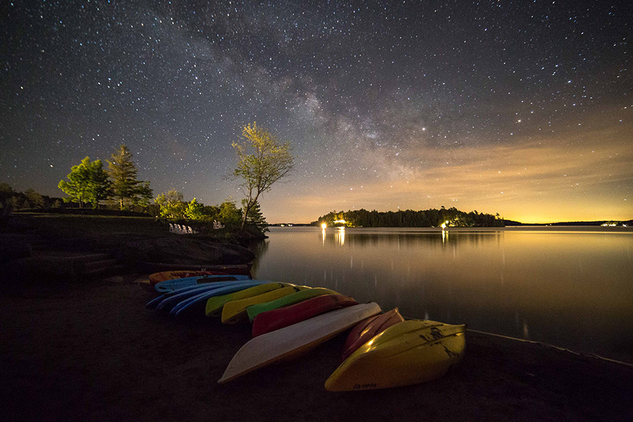 El lago Rosseau