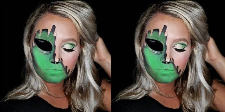 half-face-halloween-makeup