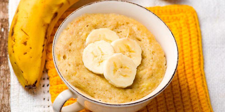 pan-de-plátano-microondas
