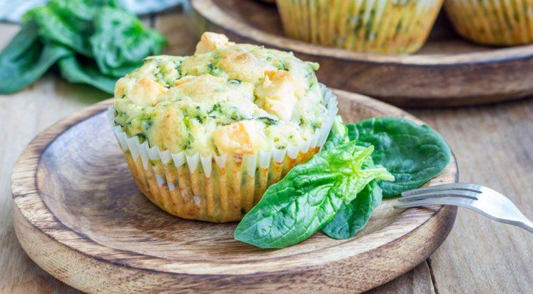 muffins salados proteína huevos