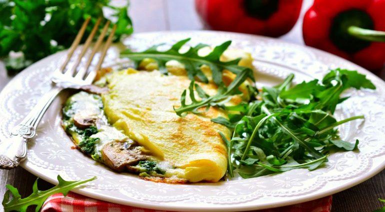 alimentos con proteína omelette