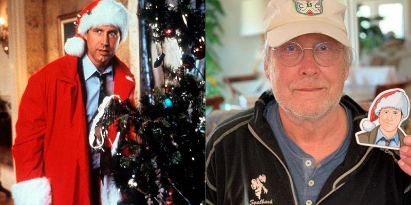 Chevy Chase antes y despues pelicula navidad vacaciones de invierno