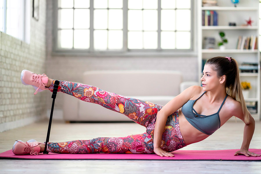 bandas de resistencia para hacer ejercicio en casa