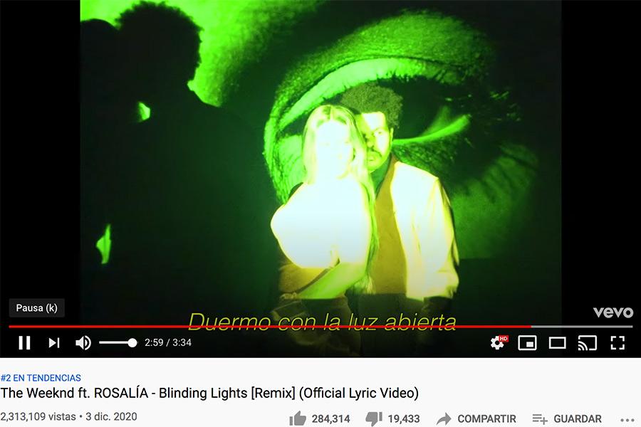Rosalia The Weekend duermo con la luz abierta remix