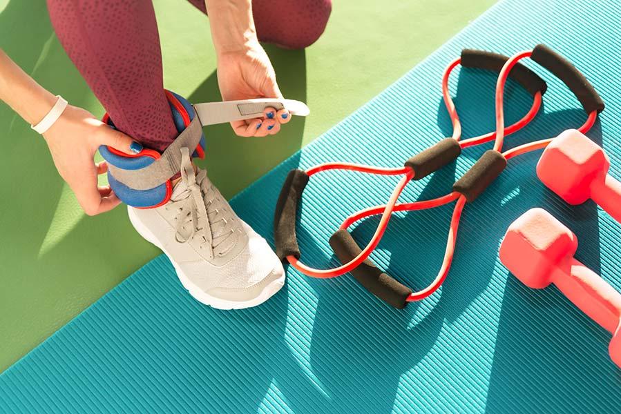 como usar polainas ejercicio