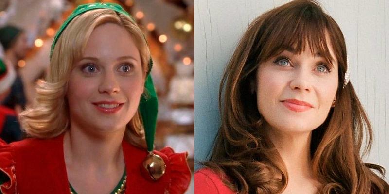 Zooey Deschanel antes y después películas navidad estrellas