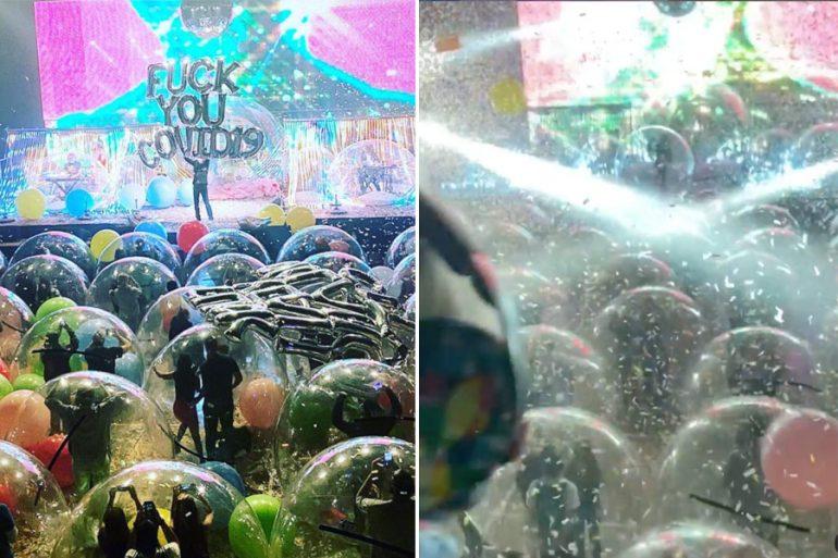 ¿Te imaginas un concierto en una burbuja gigante? ¡Ya fue una realidad!