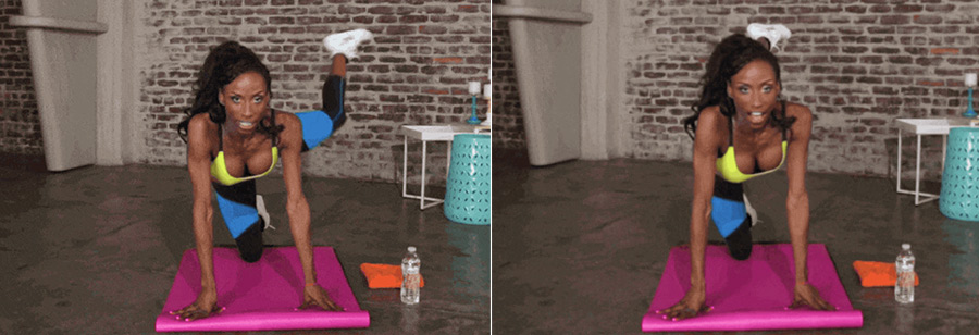 ejercicios para pierna en cama