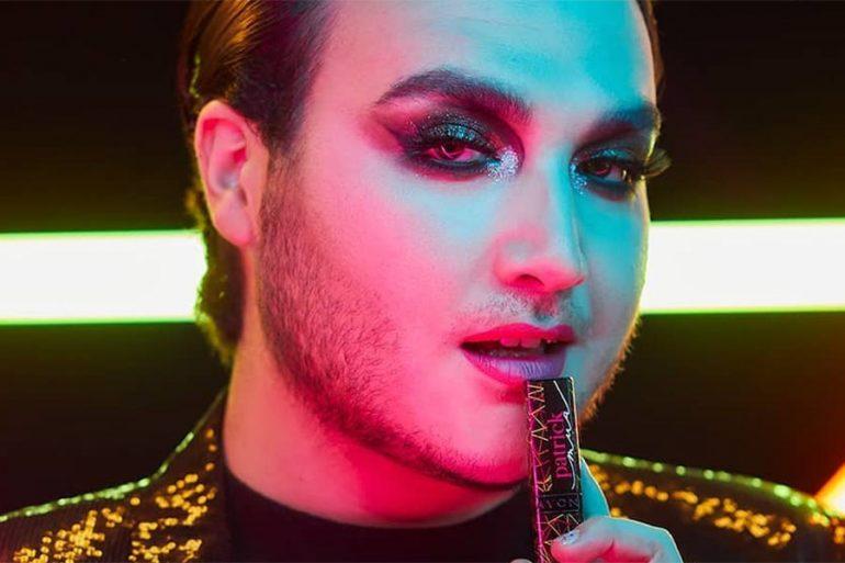 Marca de maquillaje elige a hombre para imagen y colaboración de makeup