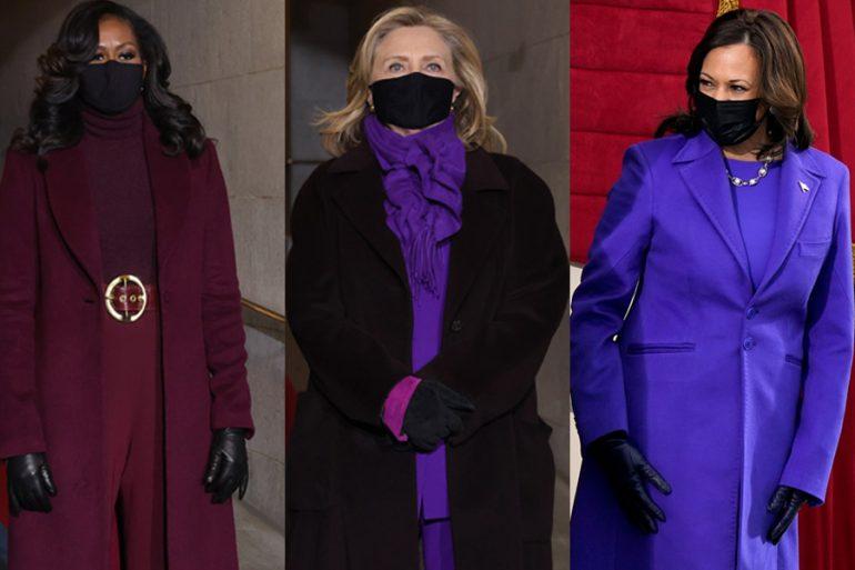 ¿Qué significa el color púrpura de los looks de Michelle Obama, Hillary Clinton y Kamala Harris?