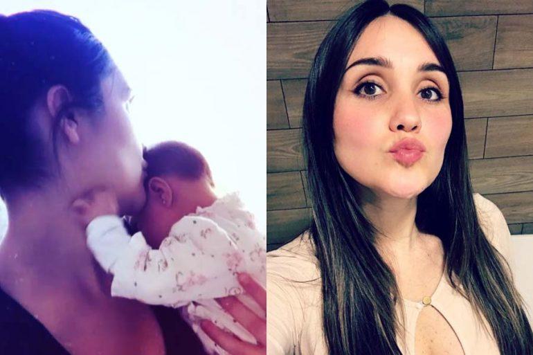 Dulce María derrite con hermosa foto junto a su bebé