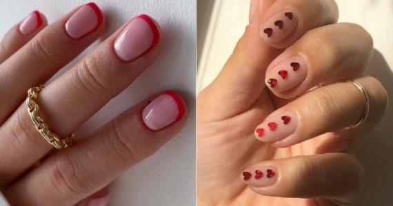 diseños manicure San Valentín