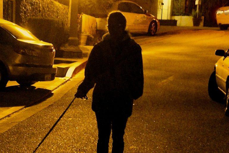 Una mujer quiso eludir toque de queda... ¡paseando a un hombre con correa!