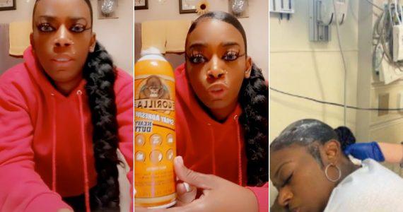 Mujer usa pegamento en el cabello para peinarse, ¡y ahora no se lo puede quitar!