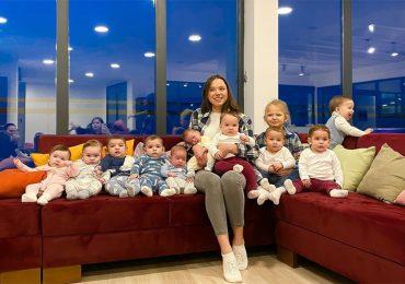 Tiene 23 años, 11 hijos y va por 100 para ser la familia más grande del mundo