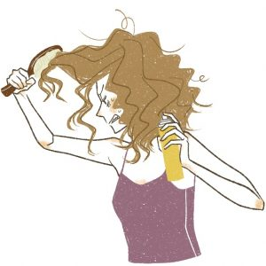 cómo cepillarse el cabello