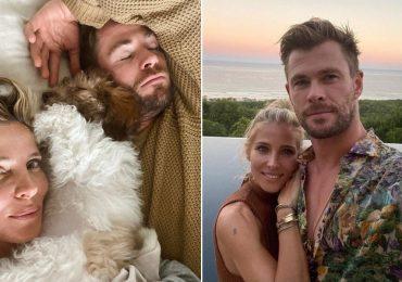 Con divertidas fotos, Chris Hemsworth ponen fin a los rumores de crisis en su matrimonio