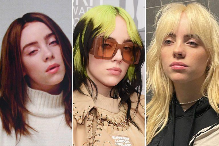 ¿Obsesionada con el nuevo rubio de Billie Eilish? Aquí los 9 colores de pelo que ha tenido
