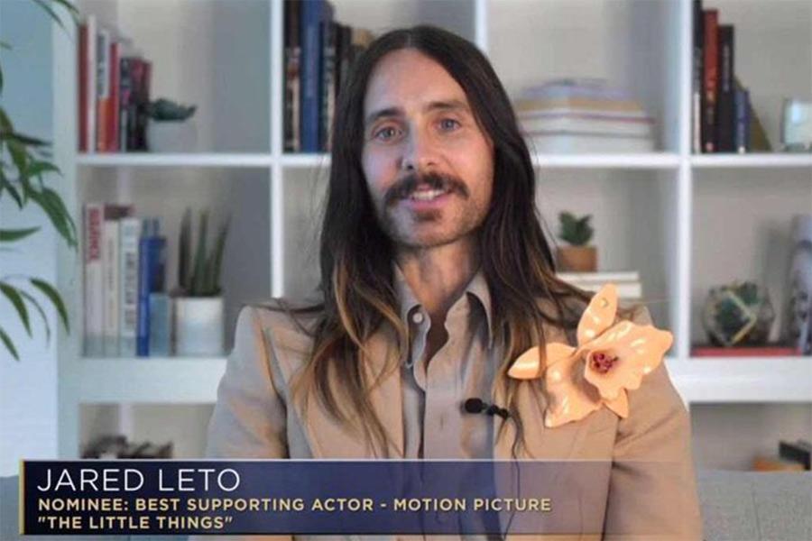 El controvertido look de Jared Leto en los Golden Globes que se hizo viral