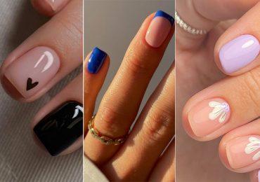 Diseños de mani para mujeres que les gustan las uñas discretas y con un toque de estilo