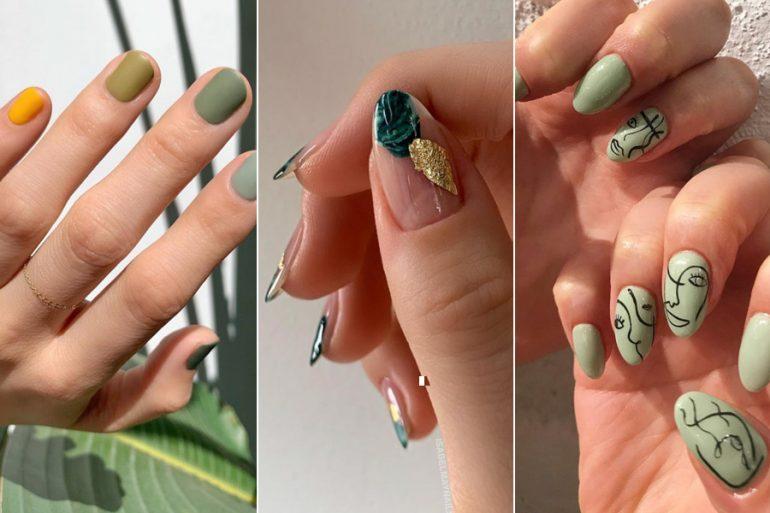 15 ideas de uñas en color verde, inspiradas en el Día de San Patricio