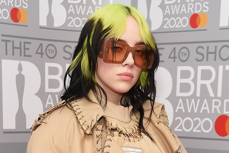 looks colores de pelo Billie Eilish