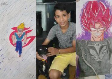 Niño vende sus dibujos en Twitter para comprar comida