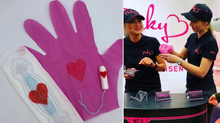 Crean guantes para desechar toallas sanitarias y desatan polémica