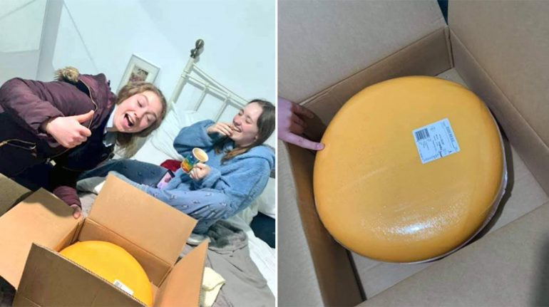 En su primera cita, granjero le regala queso de 12 kg a esta chica
