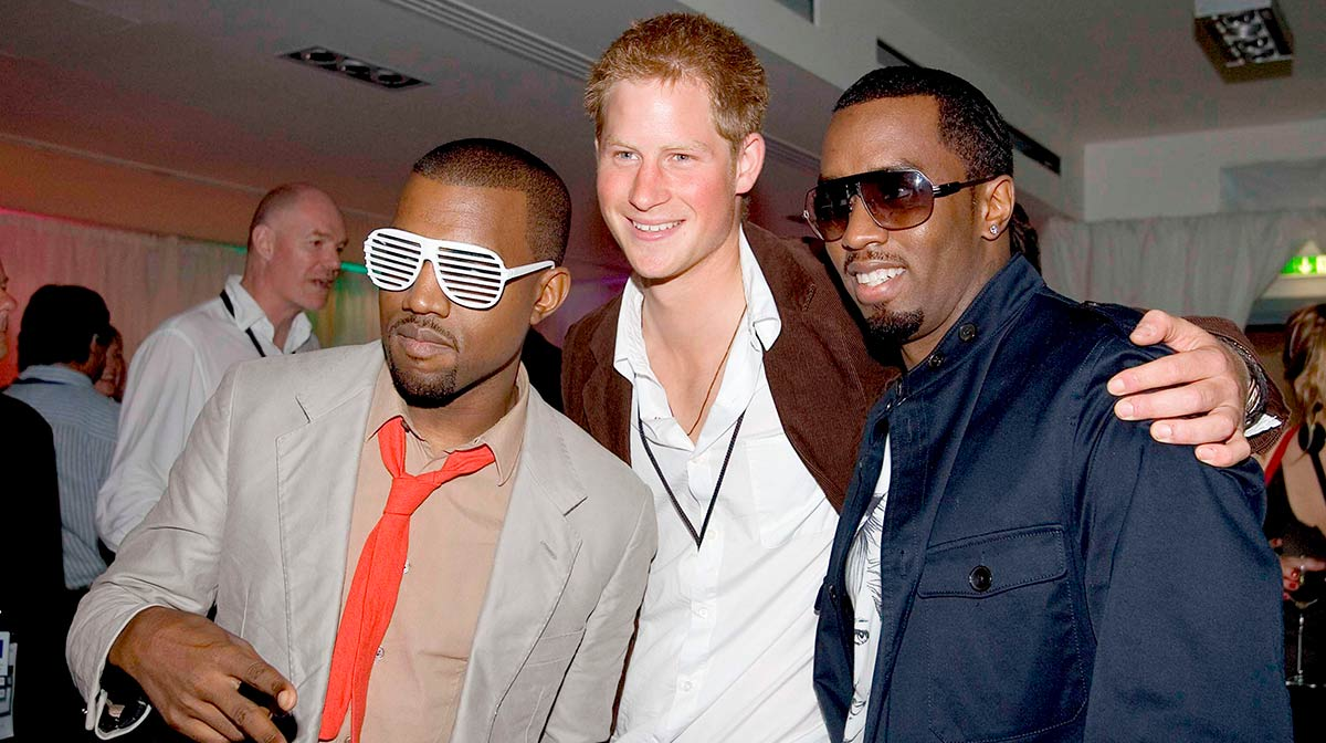 P Diddy and Kanye West
