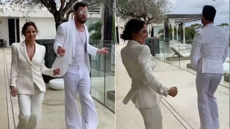 Elsa Pataky y Chris Hemsworth baile sexy