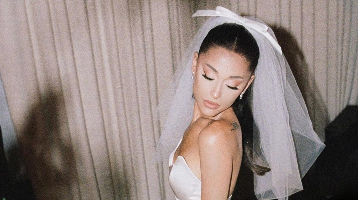 Ariana Grande como novia: el hermoso vestido Vera Wang