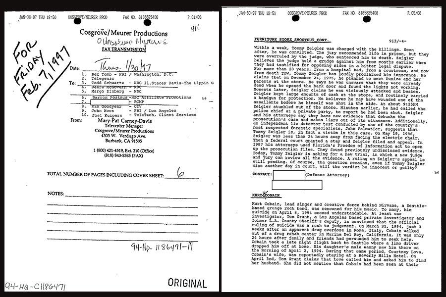 FBI abre los archivos de Kurt Cobain, aquí las teorías de su muerte