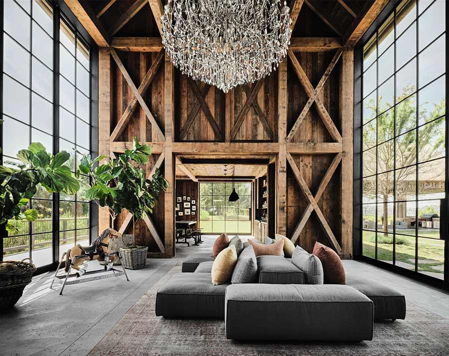 Ashton Mila mansión casa granja sustentable
