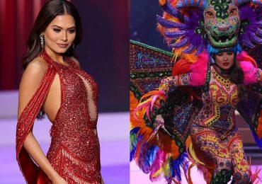 Acusan de plagios a diseñadores de Andrea Meza: el vestido y el traje típico