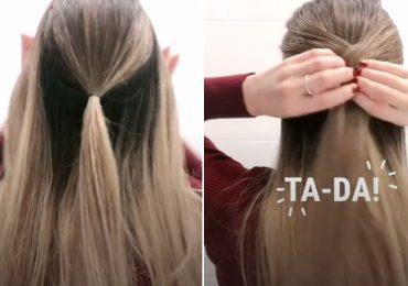 Intenta este peinado viral de TikTok: es bonito y se hace en menos de un minuto