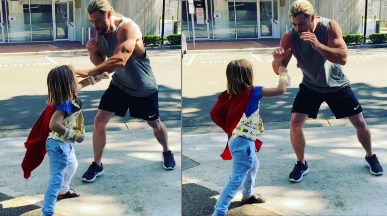 ué quiere ser el hijo de Chris Hemsworth de grande