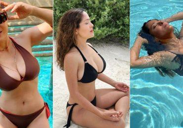 "Salma Hayek no tiene planes de dejar de publicar fotos en bikini: ""No me avergüenzo de ello"""