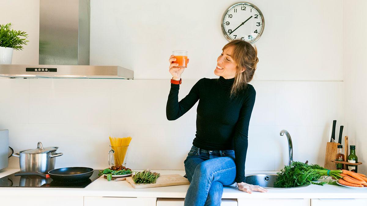 Comer más fruta y verdura está relacionado con menos estrés, según un estudio