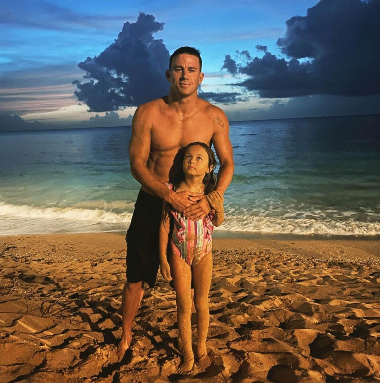 Channing Tatum muestra por primera vez el rostro de su hija Everly