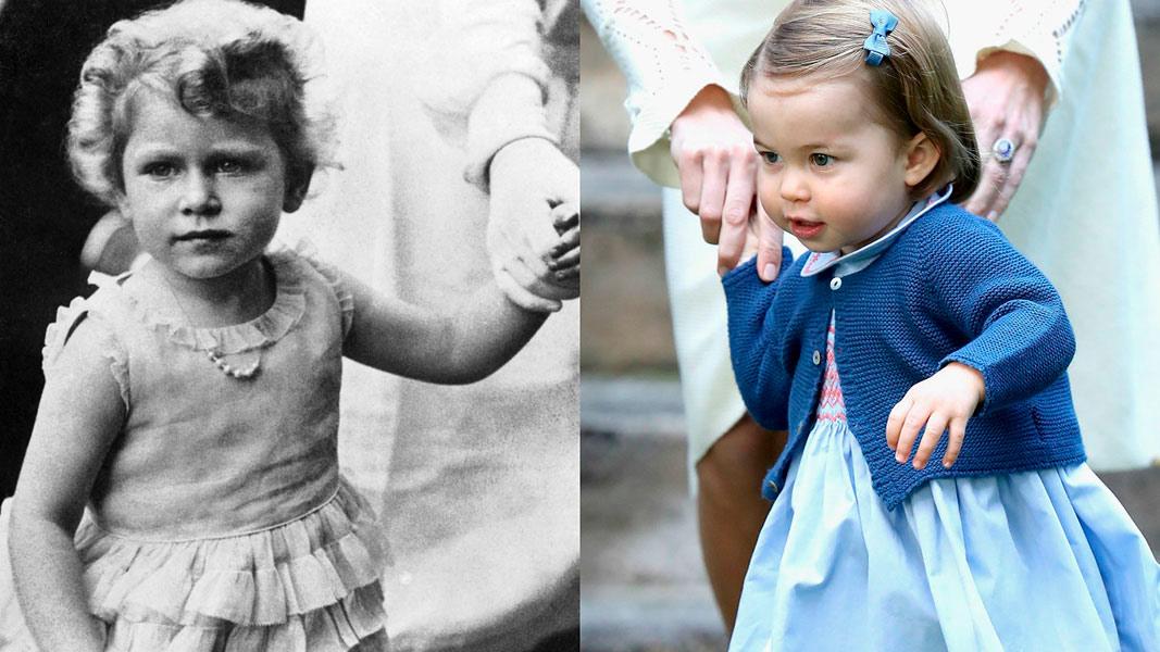 princesa Charlotte es igualita a su bisabuela la reina Isabel