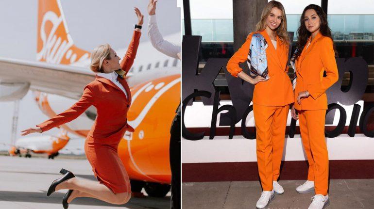 Aerolínea ucraniana cambia uniformes de azafatas: ¡adiós a tacones y faldas, hola a tenis!