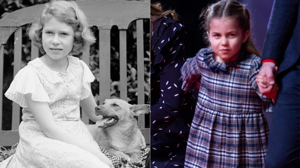 Fotos princesa Charlotte reina Isabel