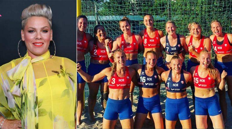 Pink se ofrece a pagar multa de jugadoras noruegas que se negaron a jugar en bikini