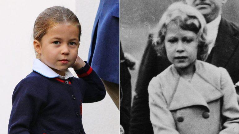 Fotos que prueban que la princesa Charlotte es igualita a su bisabuela, la reina Isabel
