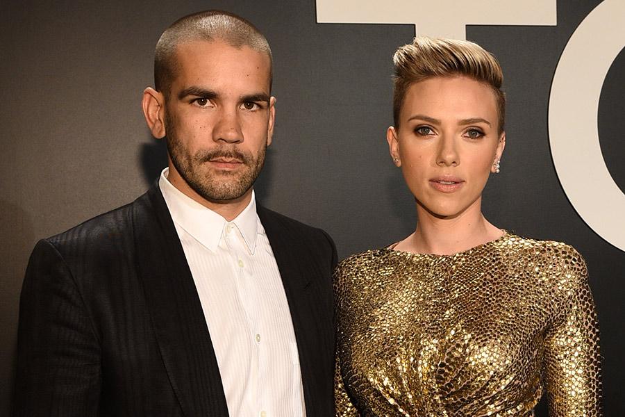 Scarlett y su ex marido Romain Dauriac