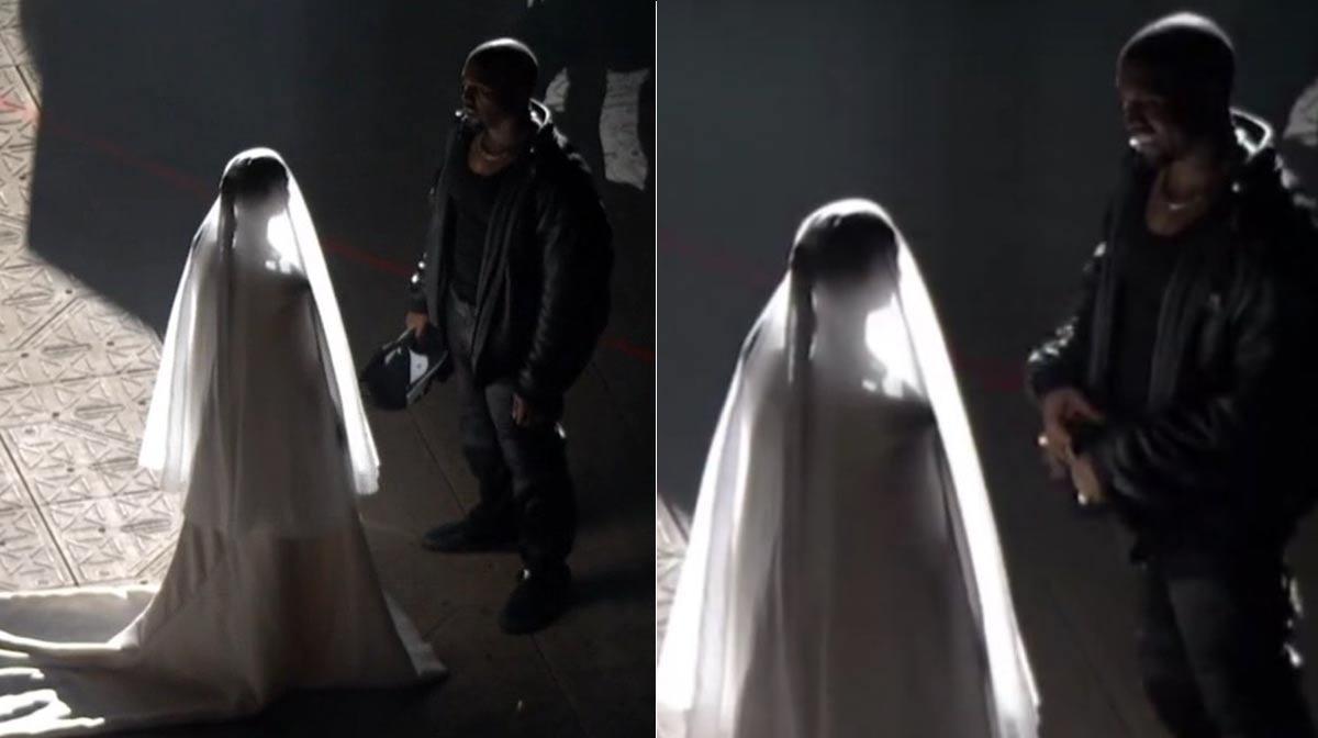 Kim Kardashian se pone un vestido de novia y parece que se vuelve a casar con Kanye West