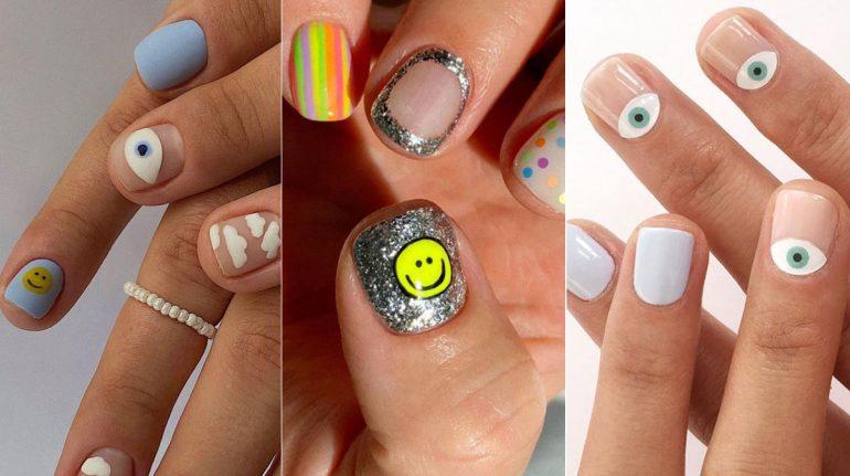 Ojitos y caritas felices, la nueva tendencia en uñas para tu manicure
