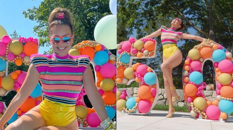 Thalía celebra cumpleaños 50